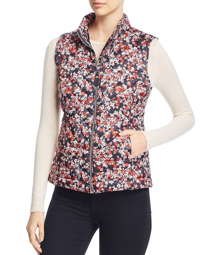 Joules - Brindley Ditsy Floral Quilted Gilet