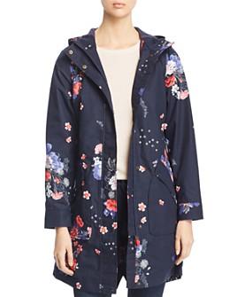 Joules - Rainelong Floral Print Raincoat