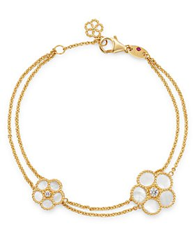 Roberto Coin - 18K Yellow Gold Daisy Mother-of-Pearl & Diamond Bracelet - 100% Exclusive