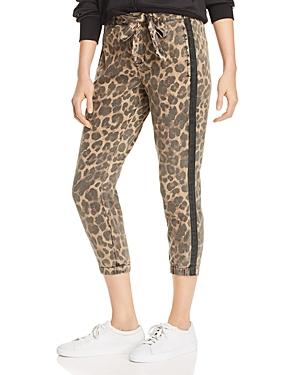 Pam & Gela Pants LEOPARD PRINT SIDE-STRIPE PANTS