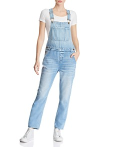 Pistola - Bailey Distressed Denim Overalls