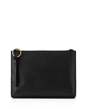 REISS - Paisley Leather Pouch