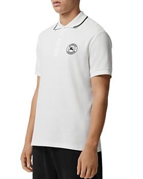 f0fdf01eef20ac Burberry - Moreton Logo-Stamp Piqué Regular Fit Polo ...