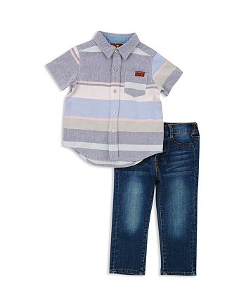 7 For All Mankind - Boys' Button-Up Camp Shirt & Jeans Set - Little Kid