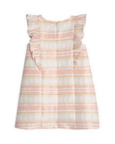 Pippa & Julie - Girls' Striped Floral-Brocade Dress - Little Kid
