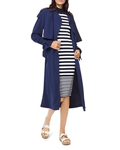 MICHAEL Michael Kors - Belted Tie-Detail Trench Coat