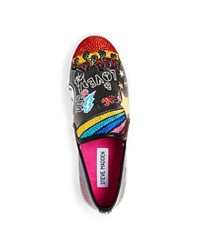 STEVE MADDEN - Girls' JPowerful Embellished Slip-On Sneakers - Little Kid, Big Kid
