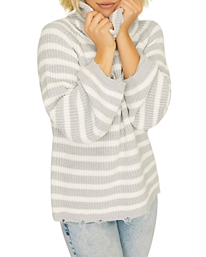SANCTUARY JAGGER COWL-NECK SWEATER
