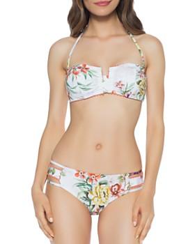 0778441edcb ISABELLA ROSE - Enchanted Halter Bandeau Bikini Top & Enchanted Side Tab  Bikini Bottom ...