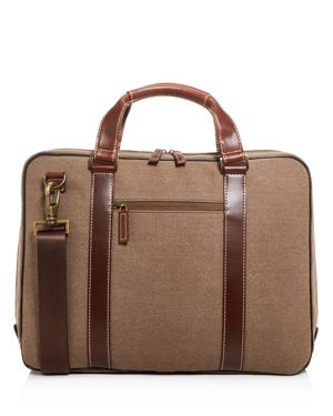 Boconi Bryant Lte Zipster Canvas Briefcase