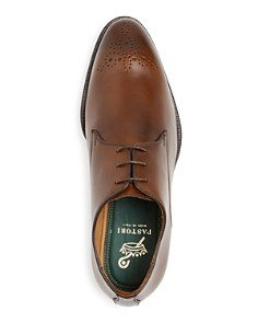 PASTORI - Men's Hadrian Leather Plain Toe Oxfords