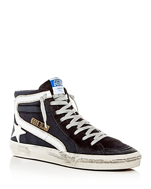 Golden Goose Deluxe Brand Men's Slide Denim & Suede High-Top Sneakers