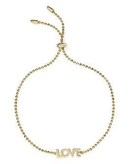 AQUA - Love Adjustable Bracelet in 14K Gold-Plated Sterling Silver - 100% Exclusive