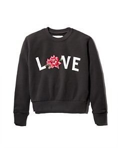 Spiritual Gangster - Girls' Embroidered Love Sweatshirt - Little Kid, Big Kid
