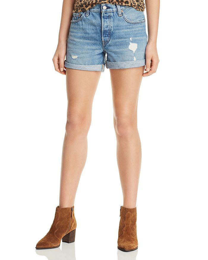 Levi's - 501 Distressed Denim Shorts in Highways and Biways