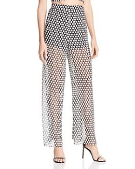 Fame and Partners - The Fernandina Semi-Sheer Dot-Print Pants