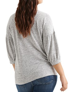 Lucky Brand Plus - Hacci Striped Top