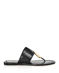 Tory Burch - Women's Patos Disk Leather Thong Sandals