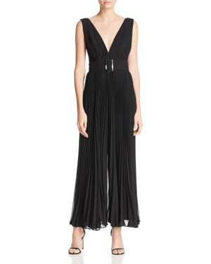 Fame And Partners The Wilcox Sleeveless Pleated Jumpsuit In Black