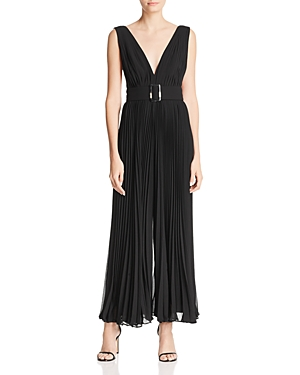 Fame And Partners FAME AND PARTNERS THE WILCOX SLEEVELESS PLEATED JUMPSUIT