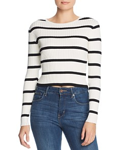 Lost and Wander - Joanna Striped Cutout Top