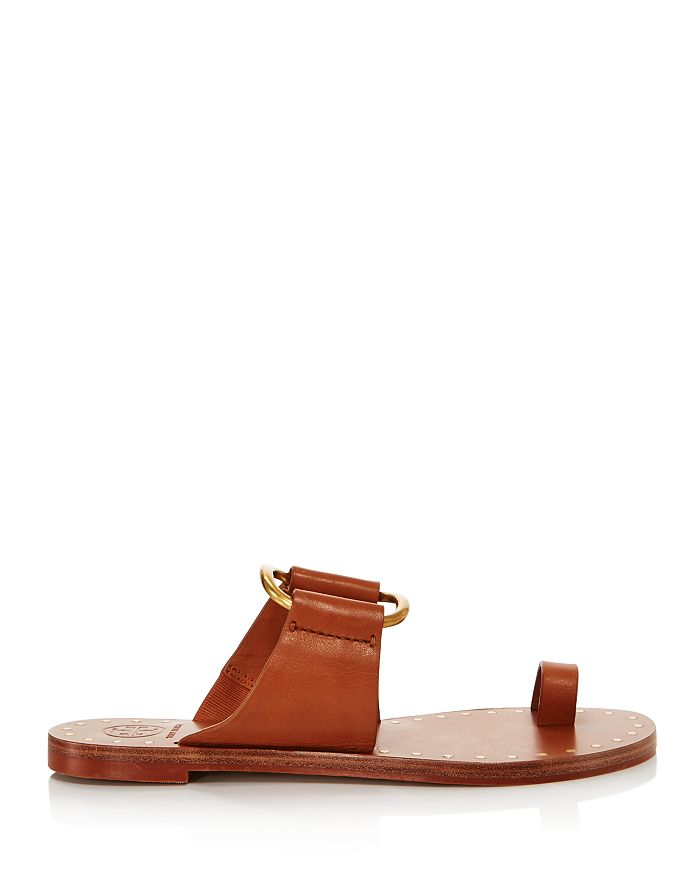 27aeeef9f5cf Tory Burch Women s Ravello Studded Leather Slide Sandals ...
