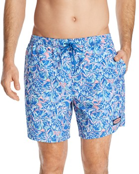 34bb8234694 Vineyard Vines - Chappy Tropical Turtle   Floral-Print Swim Trunks ...