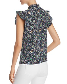 Tory Burch - Ruffled Floral-Silk Top
