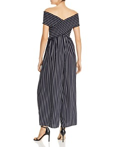 AQUA - Smocked Striped Wide-Leg Jumpsuit - 100% Exclusive