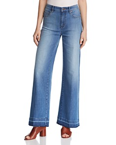 Eileen Fisher - Wide-Leg Ankle Jeans in Sky Blue - 100% Exclusive