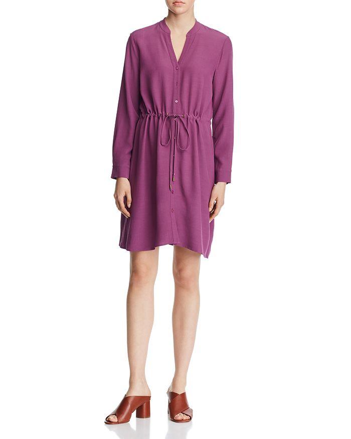 Eileen Fisher - Drawstring-Waist Shirt Dress