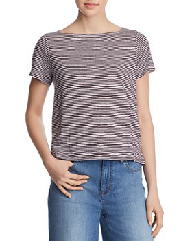 1aa2525e4566 Eileen Fisher - Square Neck Cropped Tee ...