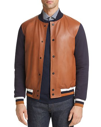 Z Zegna - Leather Varsity Jacket