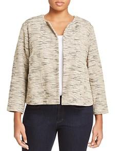 Eileen Fisher Plus - Textured Knit Open Jacket