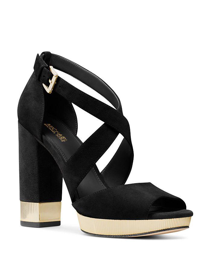d65f0b1ee1b MICHAEL Michael Kors - Women s Valerie Metallic   Suede Platform Sandals