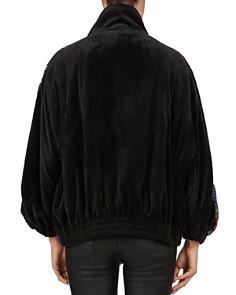 The Kooples - Sequined-Sleeve Bomber-Style Jacket