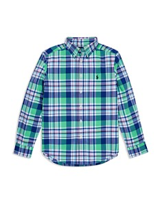 Ralph Lauren - Boys' Plaid Poplin Sport Shirt - Big Kid