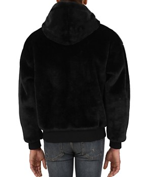 The Kooples - Faux-Fur Hooded Zip Jacket