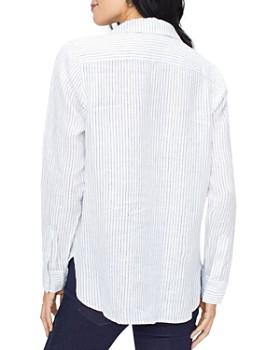 NYDJ - Striped Linen Popover Top