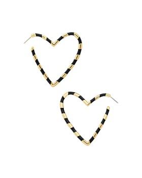 BAUBLEBAR - Annaelle Heart Hoop Earrings ... f66f914d07