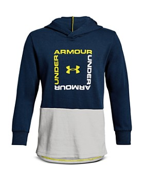 Under Armour - Boys' Unstoppable Square-Logo Hoodie - Big Kid