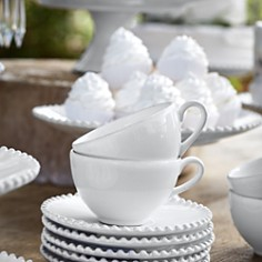 Costa Nova - White Pearl Coffee Cup & Saucer