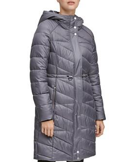 Marc New York - Brookdale Velvet Trim Puffer Coat