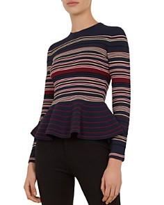 Ted Baker - Leytina Striped Peplum Sweater