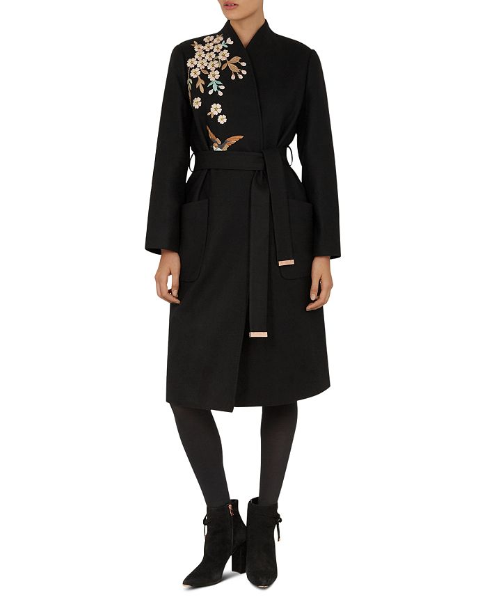 a04d47a6e355 Ted Baker - Fennela Graceful Embroidered Coat