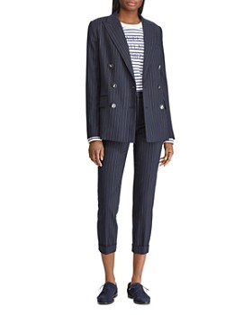 ... Ralph Lauren - Pinstriped Double-Breasted Blazer - 100% Exclusive 0d30b6af27