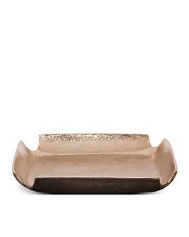 Howard Elliott - Raw Gold Aluminum Tray with Notched Corners
