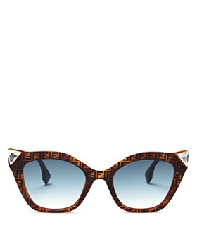 Fendi - Women's Embellished Logo Cat Eye Sunglasses, 52mm