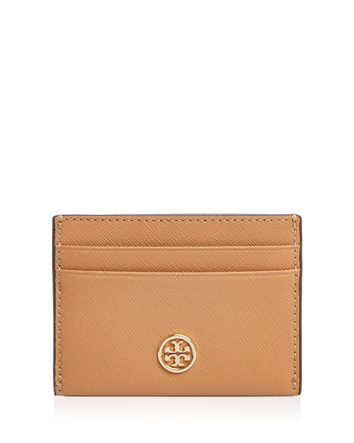 Tory Burch Robinson Leather Card Case  | Bloomingdale's