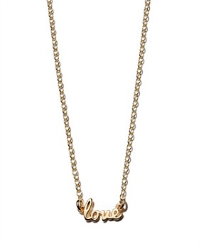 """Kris Nations - Love Pendant Necklace in 14K Gold-Plated Sterling Silver & Gold, 16"""""""